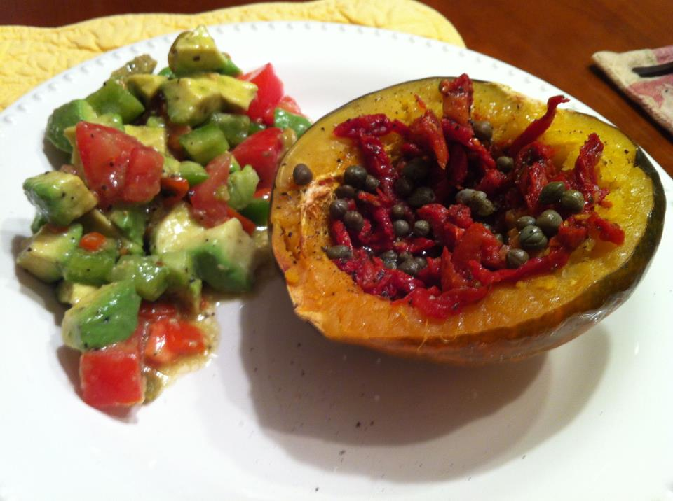 Acorn Squash and Avocado Salad with Green Olives