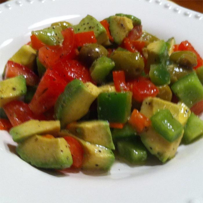 Avocado Salad with Green Olives