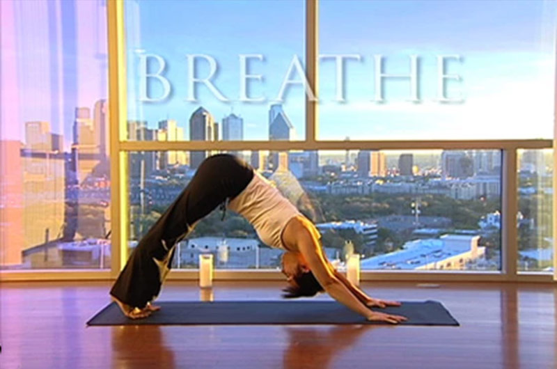 Still from True Yoga DVD with Leanne Hall